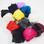 "3"" Faux Fur Pom Pom Ball Keychains Mixed Colors .54 each"