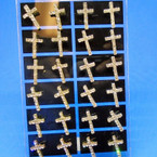 Crystal Stone Cross Earrings 12 per display .50 each pair