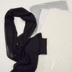 "9"" X 60"" Sheer Chiffon Scarves 4 colors per dz .54 each"