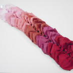 "5.5"" Rose Tone Color Mix Gator Clip Bows 24 per pk .39 each"