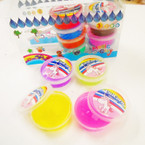 "1"" X 2.5"" Unicorn Theme Gel Putty 12 per bx .35 each"