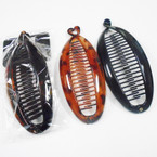"2 Pack 6"" Black & Brown Banana Combs .54 per set"