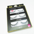 3 Pack Fashion Eyelashes as shown (318) .54 per set