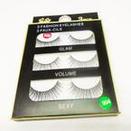 3 Pack Fashion Eyelashes as shown (320) .54 per set