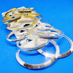 3 Pair Gold & Silver Fashion Tube Hoops Mixed Sizes and Styles .52 per set