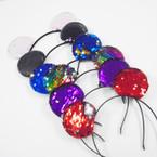"Popular Sequin Change Color ""Mouse"" Ear Headbands .56 each"