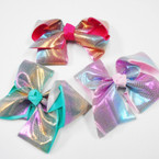 "5"" Gator Clip Bows Bright  Metallics    .54 each"