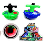 "3.5"" Super Blaze Flashing Spinning Top w/ Sound 12 per bx $ 1.20 ea"