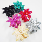 "SPECIAL 3"" Flower Look Jaw Clip w/ Acrylic Stones .33 each"
