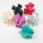 "SPECIAL 3"" Butterfly Look Jaw Clip w/ Acrylic Stones .33 each"