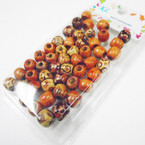 40 Pack 10MM  Wood Island Look Hair Deco Beads .50 per pack