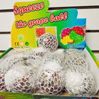 "2.5"" Multi Color Squeeze White Mesh Balls 12 per display bx .56 each"