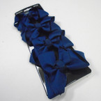 "4 Pack 2.75"" Gator Clip Bows All Navy Blue .54 per set"