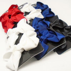 "4 Pack 2.75"" Gator Clip Bows Red,White,Blk,Navy Mix  .54 per set"