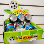 Silver Metallic Light Up Soccer Theme YoYo's 12 per display .55 each