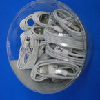 3 FT I-Phone Charge Cable for 5 & 6 Phones 24 per display can .90 each