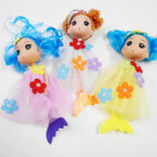 "6"" Dressed Doll Keychain Mermaid Theme .56 each"