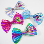"5"" Metallic Gator CLip Bows Mermaid Theme  24 pk ONLY .35 ea"