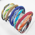 3 Pack Padded Headbands Mixed Styles As Shown .54 per set