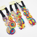 New Multi Color Fashion Headbands w/ Elastic Back .54 ea