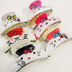 """Cat Lover's 3.5"""" Jaw Clips MIxed Styles .54 each"""