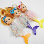 "6"" Dressed Mermaid Theme Doll Keychain w/ Hair Bow .60 each"