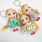 "3.5"" Doll Keychain w/ Emoji Theme .54 each"