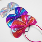 "8"" Metallic Bow Fashion Headbands .56 ea"