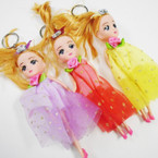 "6"" Dressed  Doll Keychain w/ Crown Headband .60 each"