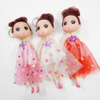 "7"" Dressed  Doll Keychain w/ Shiney Flower .60 each"
