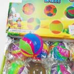 "3"" Multi Swirl Design Squeaky Light Up Balls 12 per display bx .58 each"