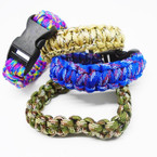 Popular Multi Color Paracord Bracelets 12 per pk  .75 each