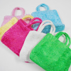 "5.5"" X 8"" Colorful Soft Fabric Zipper Purse w/ Handle .54 each"
