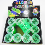 "2"" X 3"" Glow in the Dark Barrel-O-Slime 12 per display .58 each"