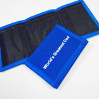 World's Greatest Dad Tri Fold Velcro Wallets Royal Blue 12 per pk .75 each