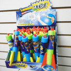 "6"" Foam Launch Rockets Asst Colors 24 per display bx .55 each"