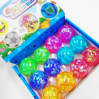 "2"" Hi Bounce Super Duper Glitter Balls 12 per display bx .56 each"