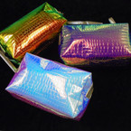 "NEW 4.5"" X 8"" Hologram Changing Color Mermaid Cosmetic Bag  12 per pk $ 2.33 ea"