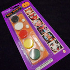 5 Color Non Toxic Face Paint Kit 12 per pk .58 each