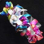 Metallic Mermaid Color Headband & Scrungi Set .54 per set