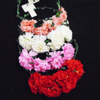 4 Flower Wire Halo Crowns Asst Colors .56 each