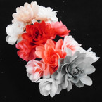 Multi Color Flower Fashion Headbands 12 per pk  .54 ea