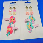 Mermaid Hair Clip & Earring Set .54  per set