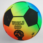 "8"" Championship Multi Color Soccer Balls 12 per pack .58 each"