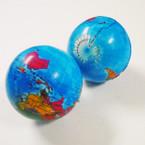 """2"""" World Globe Stress Relax Squeeze Balls 12 per pk .50 ea"""