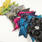 "6"" X 8"" Cheerleader Tail Bows on Gator Clip Mixed Fall Colors   .54 ea"