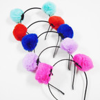 Popular Mixed Color Pom Pom Headbands .56 each