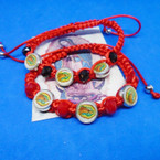 Guadalupe Picture Theme Red Macrame Bracelets .54 each