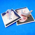 Gold & Silver Crystal Stone Earring Cuffs .54 ea