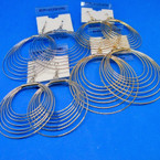 Gold & Silver Multi Loop Hypo Allergenic Earrings .54 ea